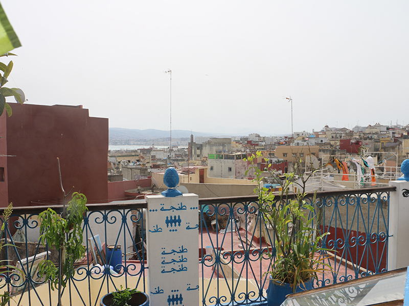 The view from the terrace of Al-Andalusi Hostel.